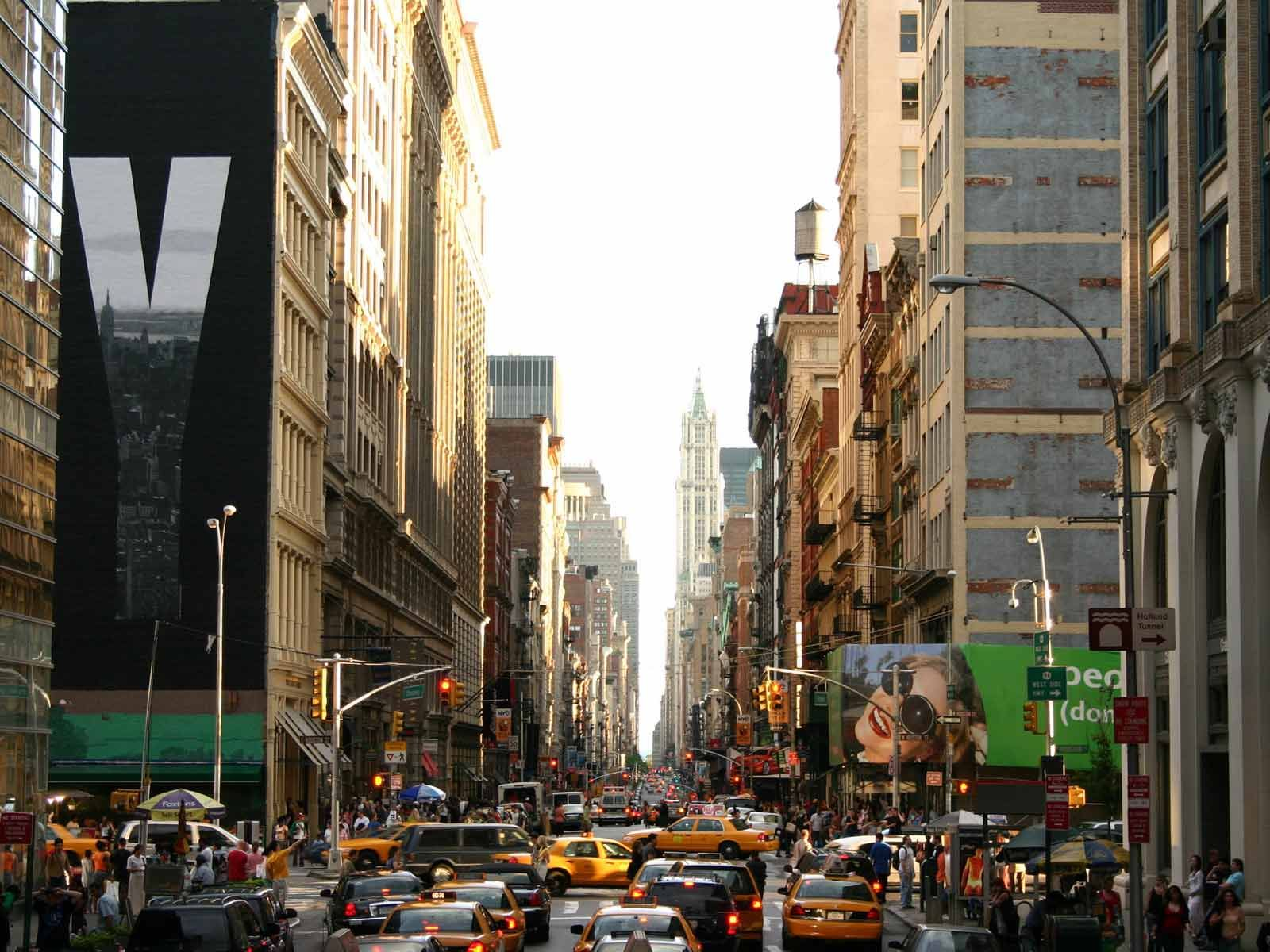 New York Streets Jpg 1600 1200 Amerika Tempat