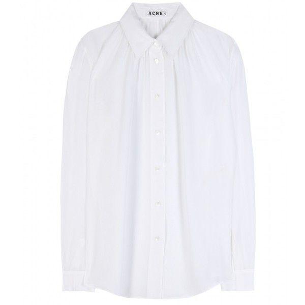 Acne Studios Adeline Silk Shirt by None, via Polyvore $340