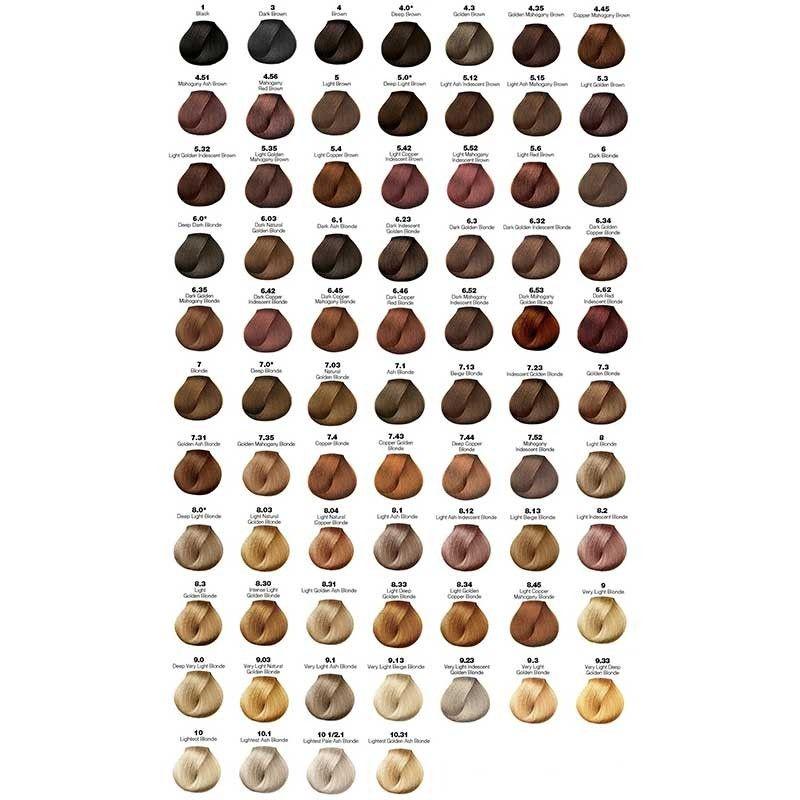 Majirel coloration chart google search ash blonde hair dye dark dyed also wella brown color  rh pinterest