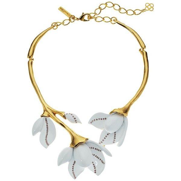 1e770b45e Oscar de la Renta Magnolia Resin Flower Necklace (White) Necklace ($690) ❤  liked on Polyvore featuring jewelry, necklaces, white pendant, resin  pendants, ...