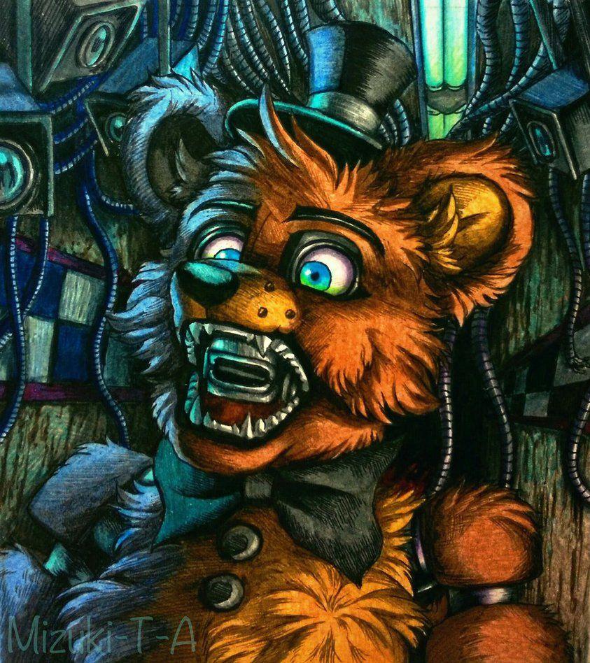Late At Night / Freddy Fazbear FNaF By Mizuki-T-A