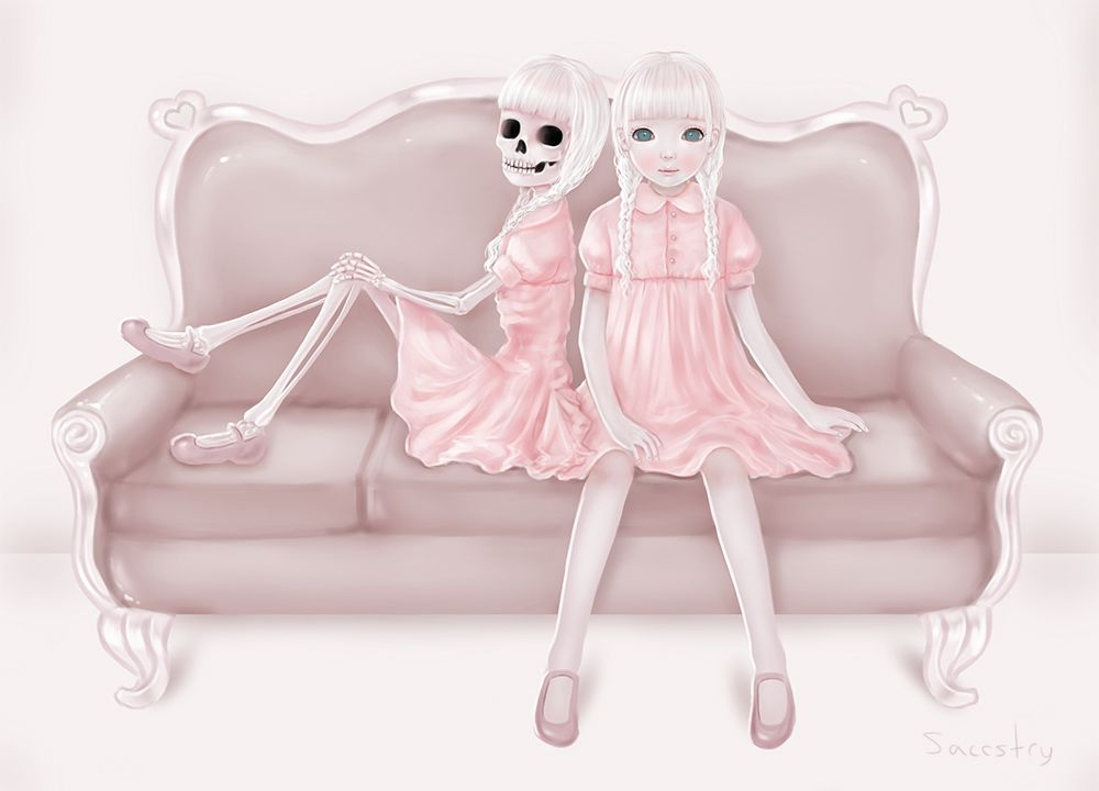 Sitting with Death by Saccstry.deviantart.com on @deviantART