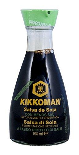 La Sal Salsa De Soya Kikkoman Reducido Fermentada Naturalmente Mesa Botella 150ml Preparar Sushi Preparacion De Sushi Vinagre De Arroz