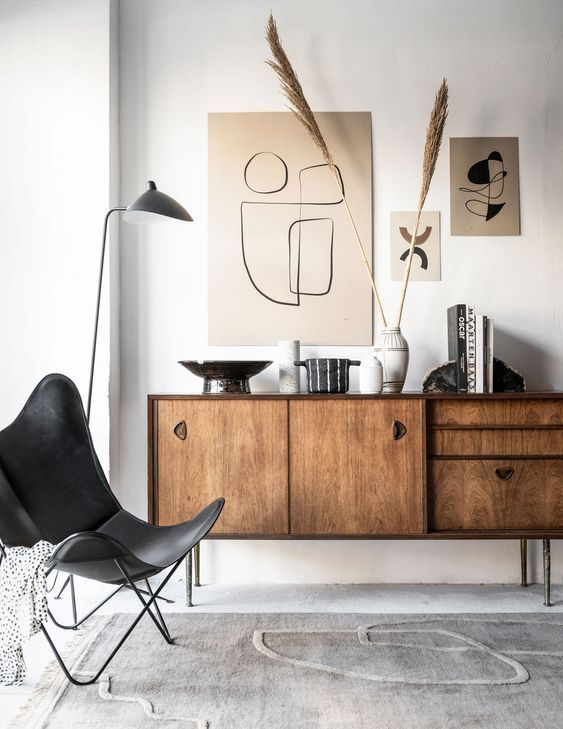 Photo of A stylish combination of industrial furniture and nude art prints #HLYTRNTY #hol…