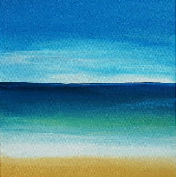 Pin By Jeanne Pierzchala On Sunrises Easy Landscape Paintings Beach Scene Painting Sunset Painting