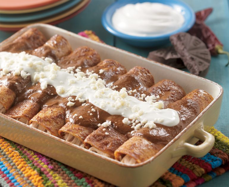 Red Mole Chicken Enchiladas | Recipe (With images ...
