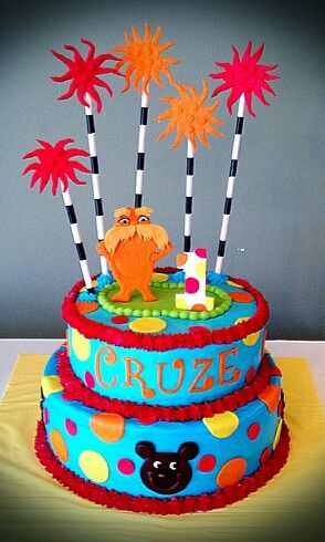 The Lorax Birthday Cake Birthday Birthday Parties