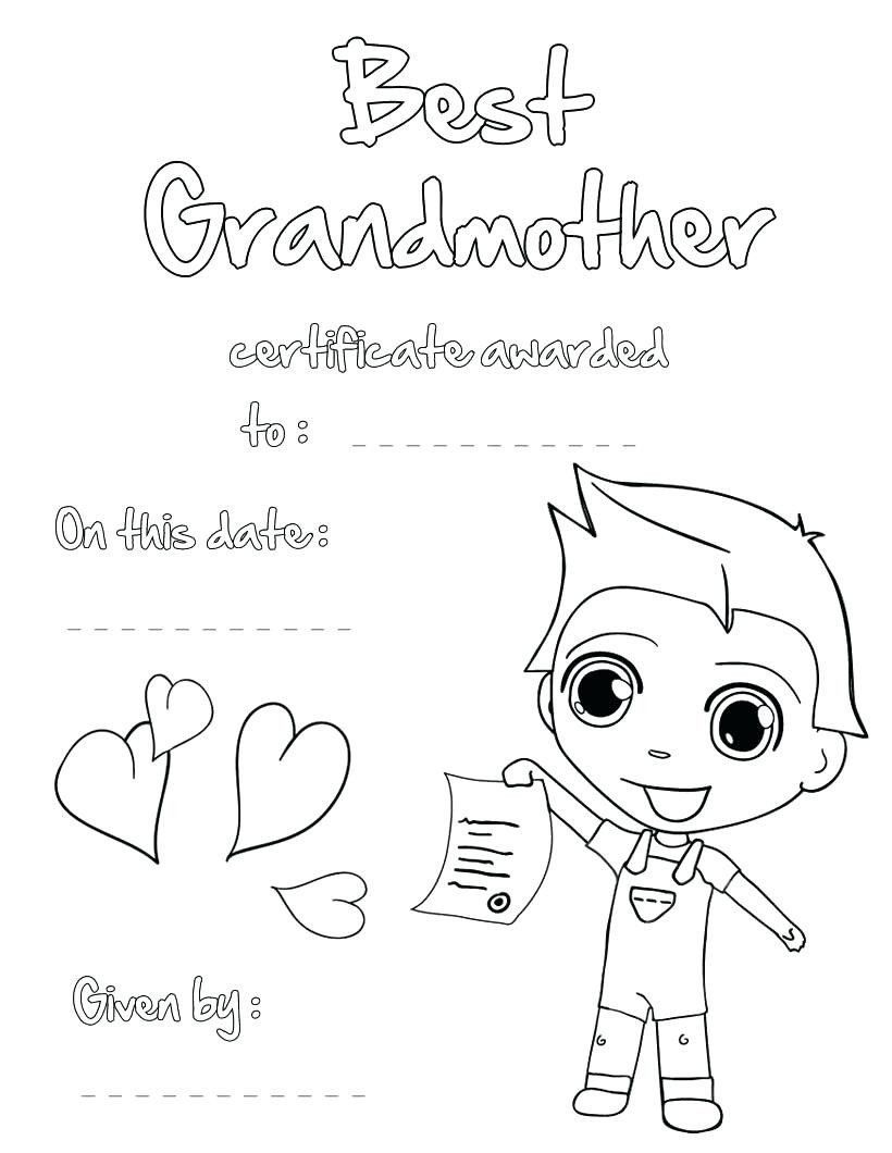 Mothers Day Coloring Page New Happy Birthday Grandma Printable ...