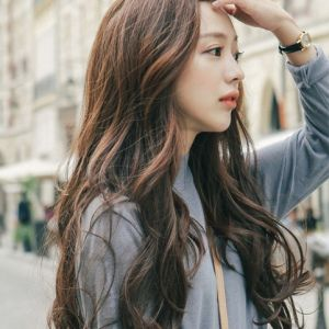 Korean S Curl Google Search Rambut Gaya Ulzzang Ulzzang