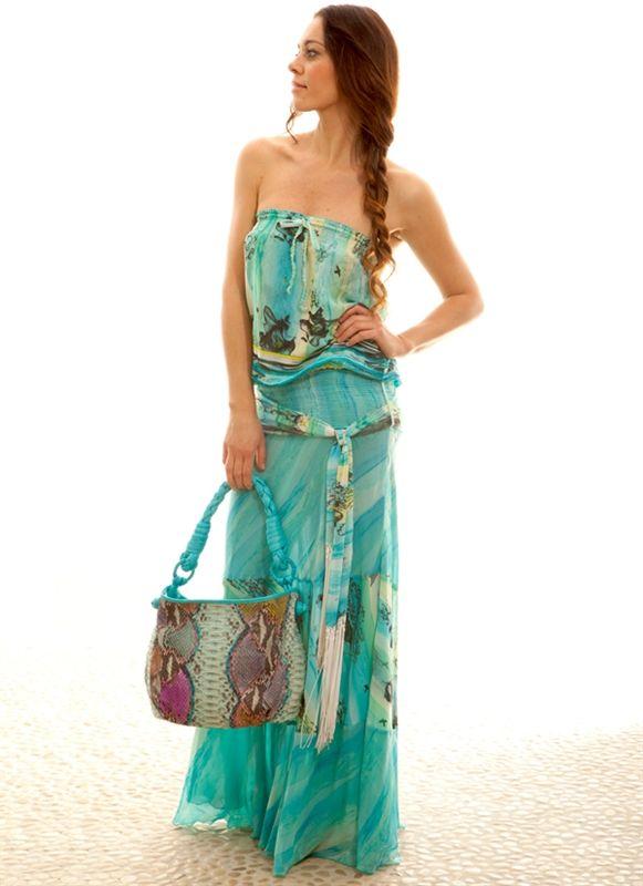 Reina Roses Ss 11 Joni Strapless Maxi Dress