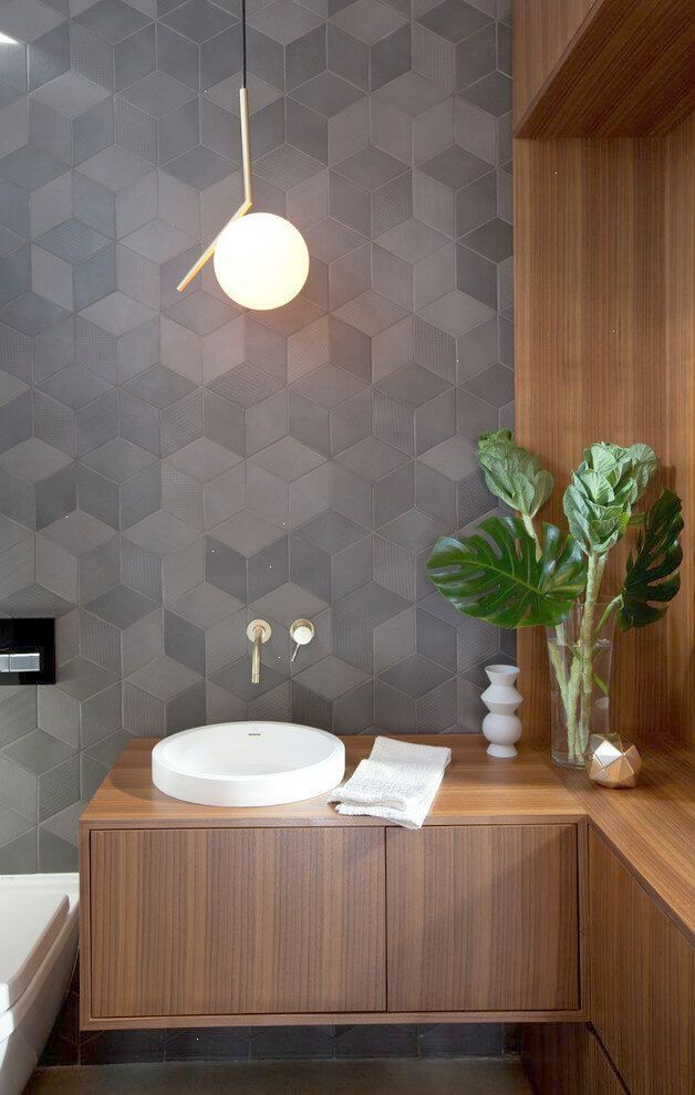 Park House By Project 22 Design Modern Bathroom Tile Small