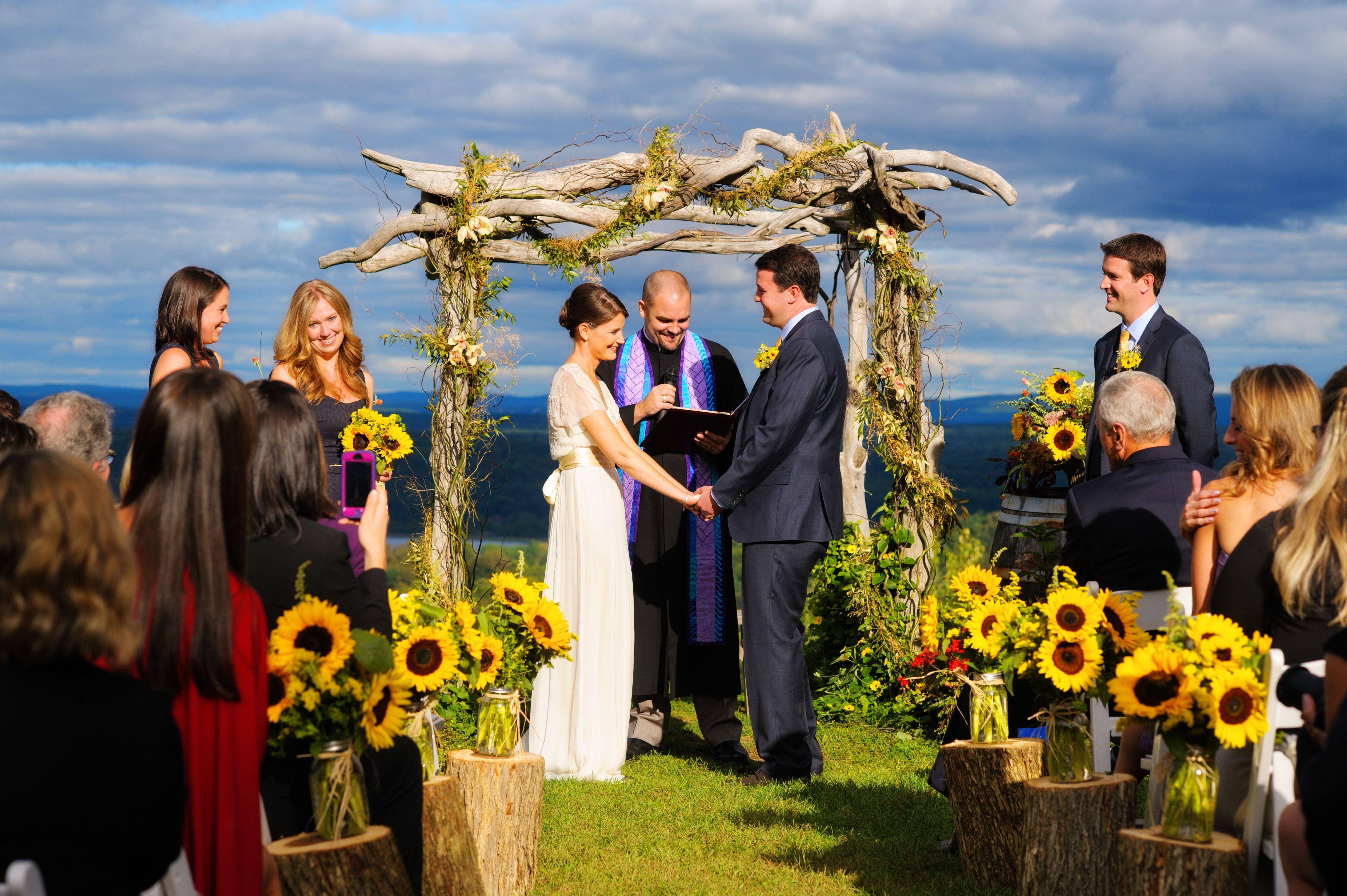 Wedding decorations natural  Natural Vineyard Wedding With Sunflowers  Sunflowers Wedding and