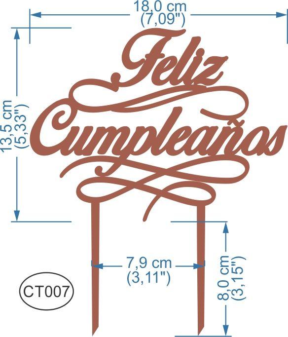 Cake topper feliz cumplea os pedidos inquiries to - Feliz cumpleanos letras ...