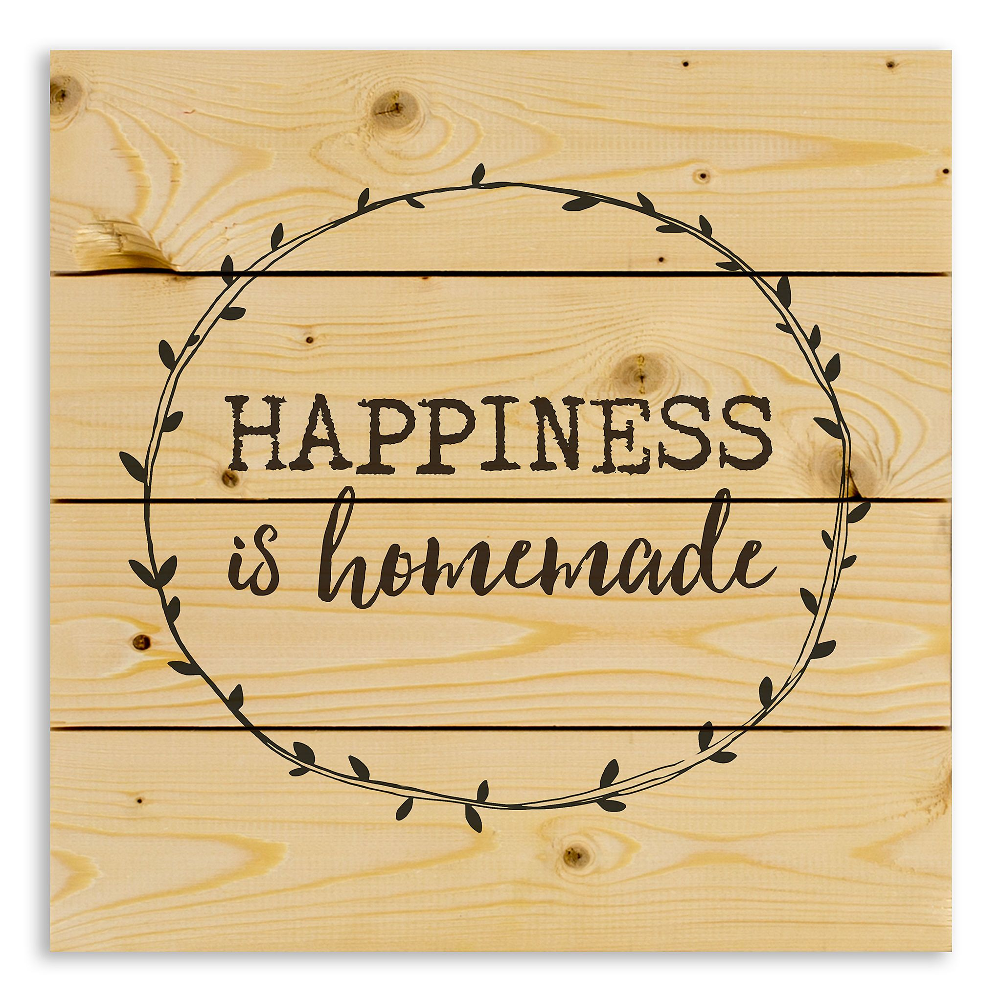 Happiness is homemade wood pallet plaque wood wall art