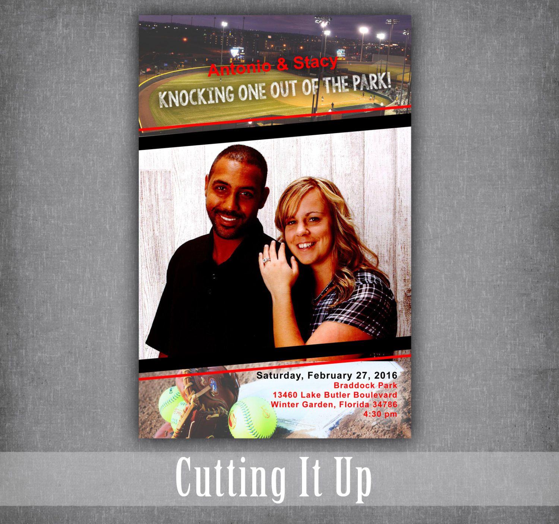 Softball Theme Wedding Program / Sports Magazine with