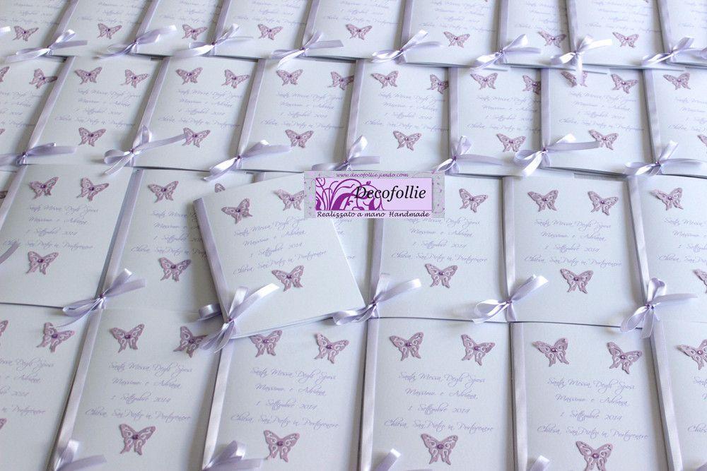 Bien connu libretti messa o messali matrimonio farfalle bianco glicine  ZE76