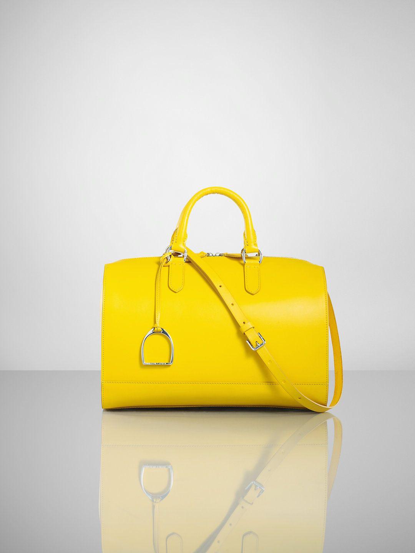 Vachetta Stirrup Boston Bag - Ralph Lauren Handbags Handbags - RalphLauren .com b66287bccb1c8