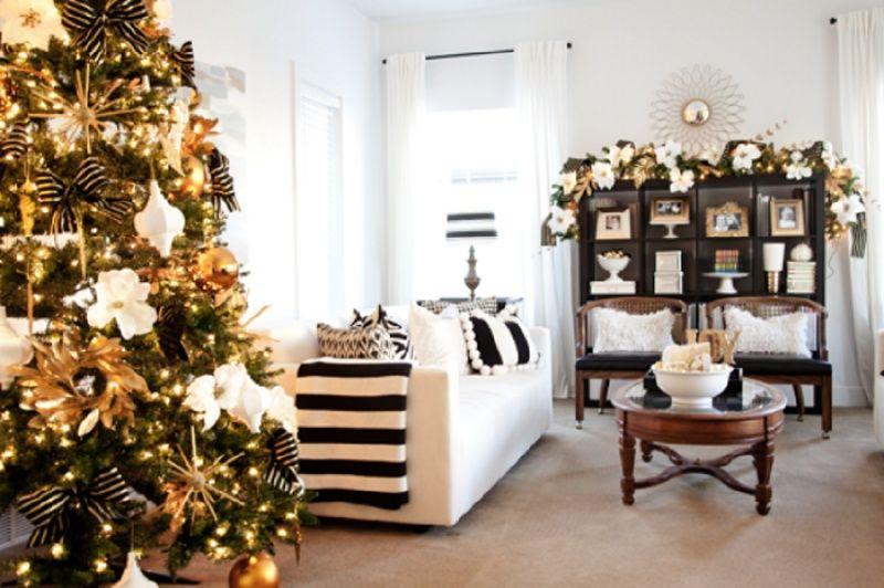 Albero Di Natale Nero E Oro.Albero Di Natale 2016 Colori Idee E Suggerimenti Merry Christmas