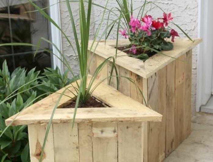 1001 tutoriels et id es pour fabriquer une jardini re en palette brico palette bois. Black Bedroom Furniture Sets. Home Design Ideas