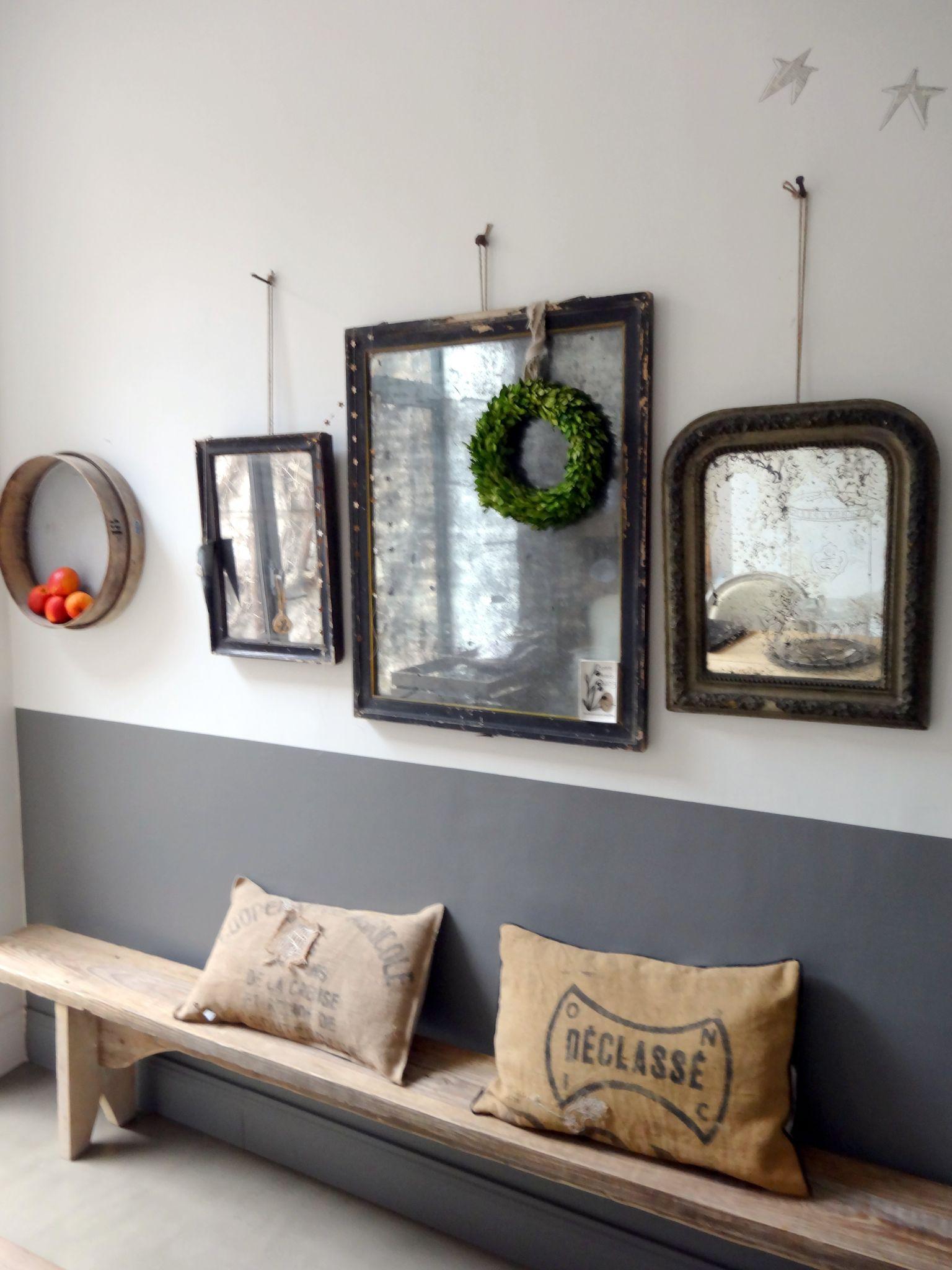 couleur mur et banc pour le couloir | déco palier | Pinterest ...