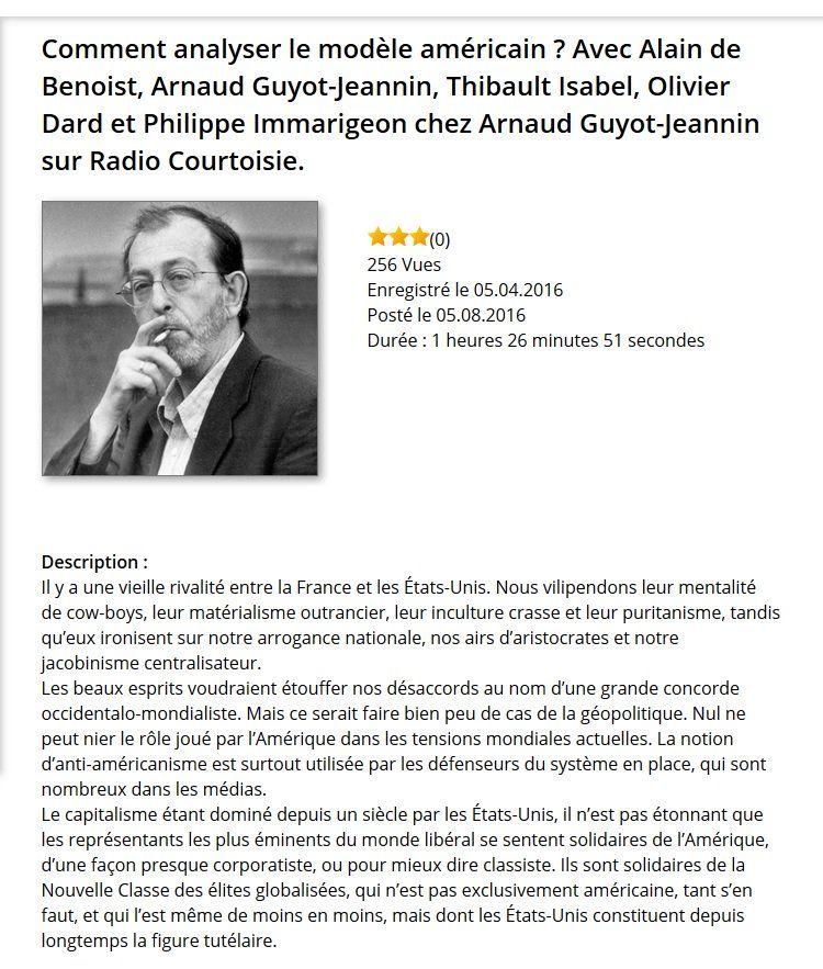 Revue Krisis 43 L Amerique Alain De Benoist Thibault Isabel