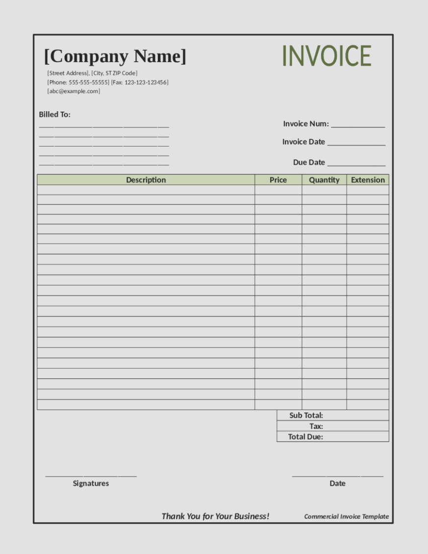 Invoice Template For Builders Construction Billing Format Sweep With Invoice Template For Builders 1 Invoice Template Printable Invoice Invoice Template Word