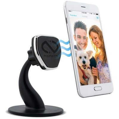 Retail Packaging Black Naztech Universal Magnetic Car Mount Holder for Smartphones