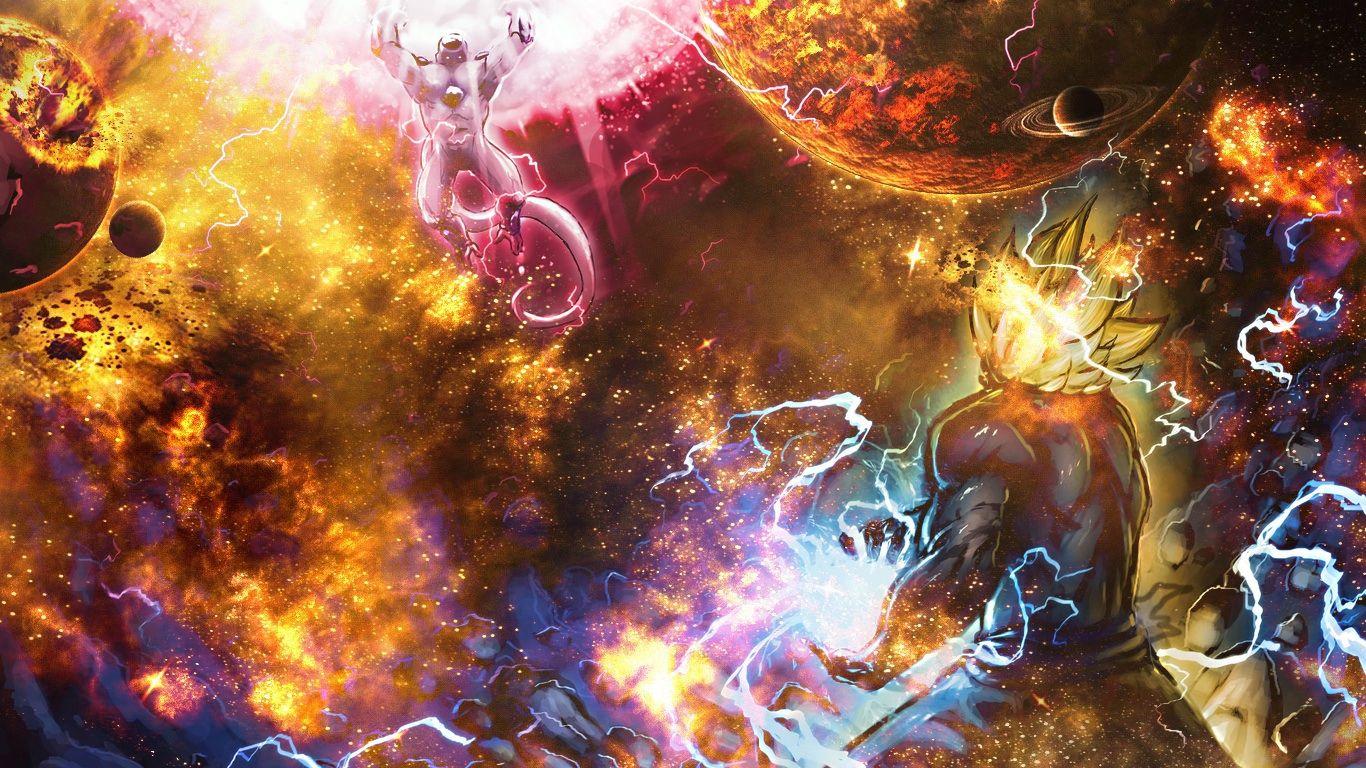 Goku Vs Frieza Super Epic Space Wallpaper Merge