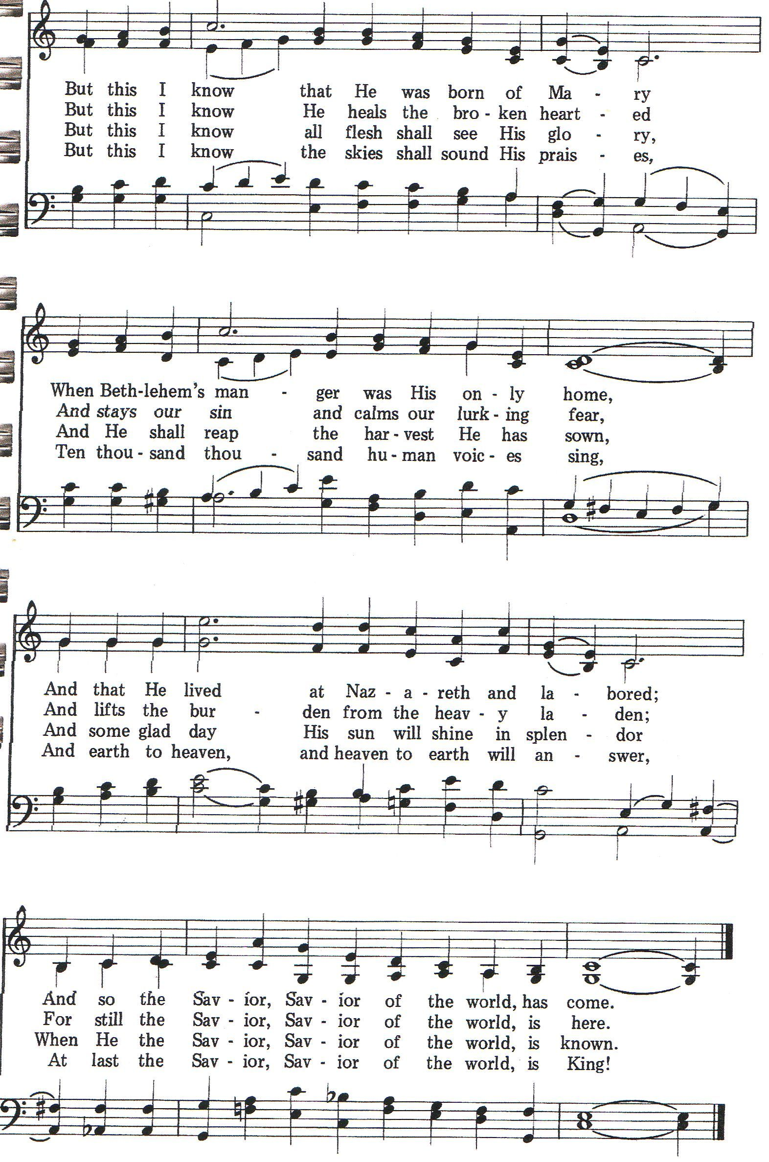 I Cannot Tell Why Hymn Satb Page 2 Of 2 Hymn Songs I Can Not