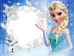 Frame Princess 100 Convite Aniversario Frozen Convites