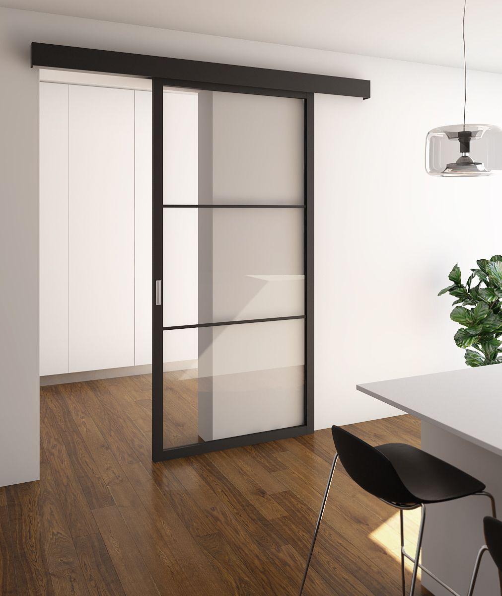 Porta Scorrevole Vetro 120 Cm porta scorrevole con vetro stratificato trasparente ed