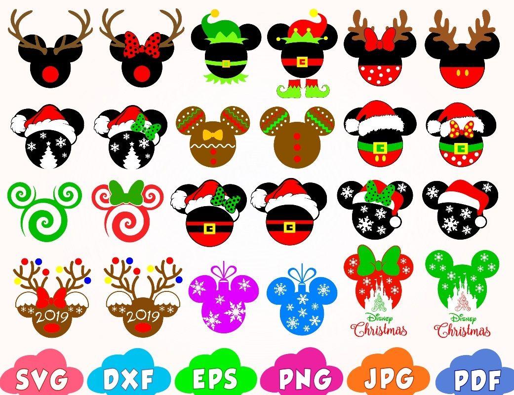 Christmas Svg, Mickey Christmas svg, Minnie svg. 4