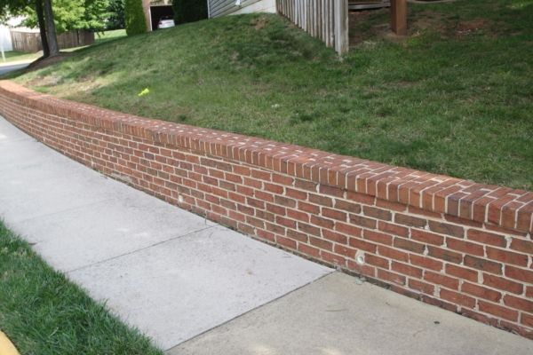 retaining wall contractor brick exterior types of on types of walls construction id=92329