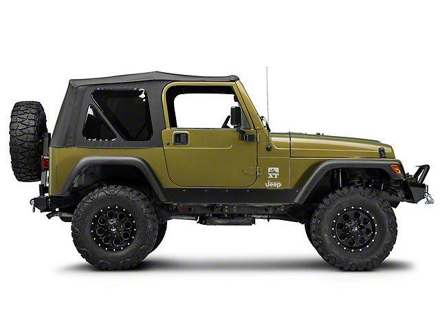 Textured Black Guard Side Steps Nerf Bar for 97-06 Jeep Wrangler TJ /& Unlimited