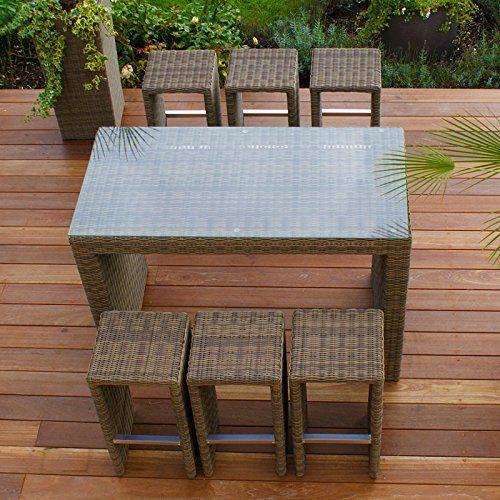 Maze Rattan Winchester Natural 145cm x 75cm Rectangular Table 6