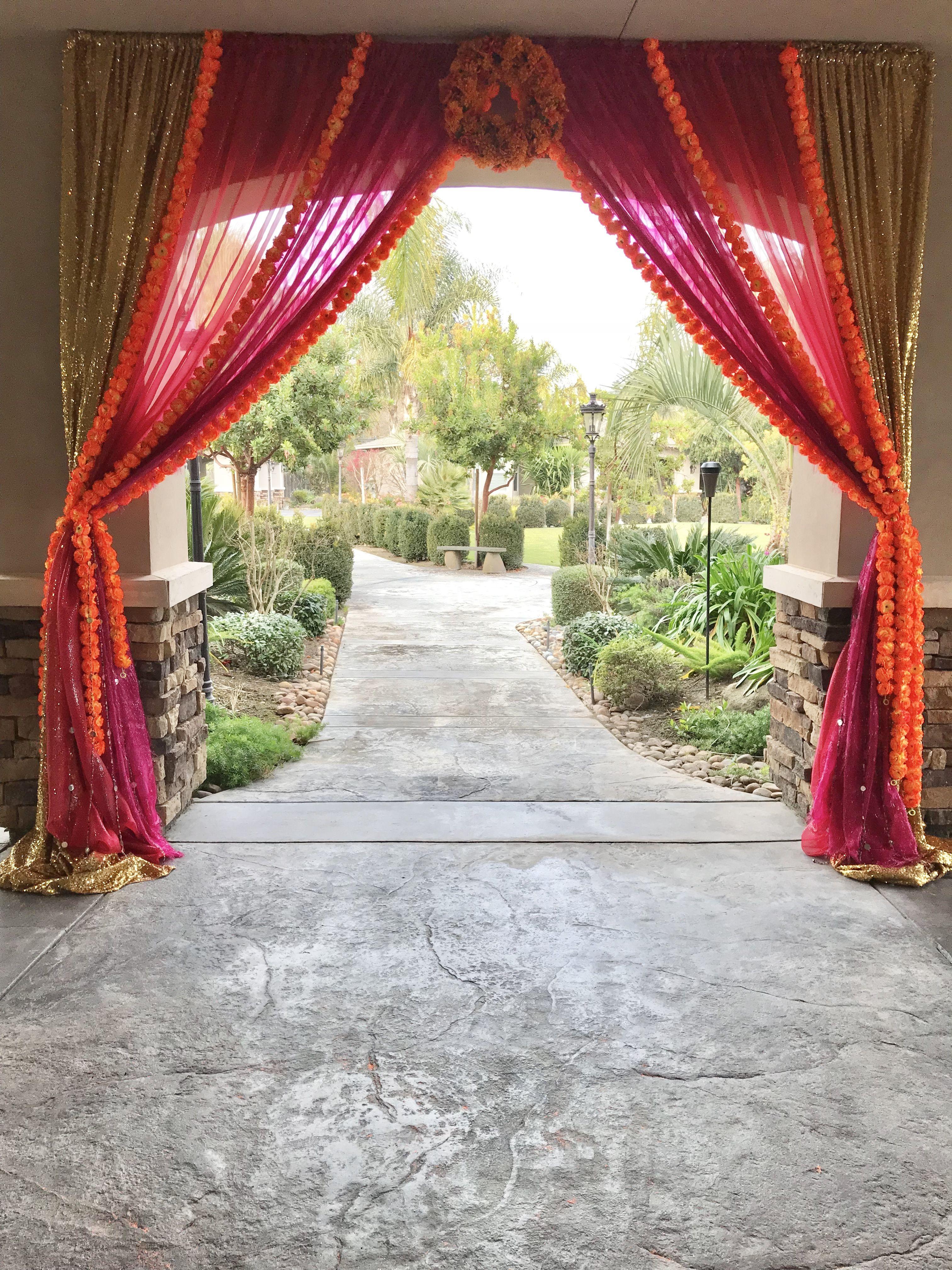 Punjabi Wedding House Decor Colorful Backyard Draping Anaisevents Anaisevents Com Home Wedding Wedding Punjabi Wedding