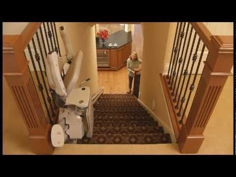 Video Bruno S Elan Straight Rail Stairlift Stair Lift Outdoor Tables And Chairs Farmhouse Table Chairs