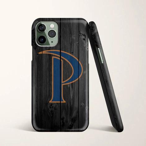 Pepperdine Waves University Logo Dark Wood Wallpaper