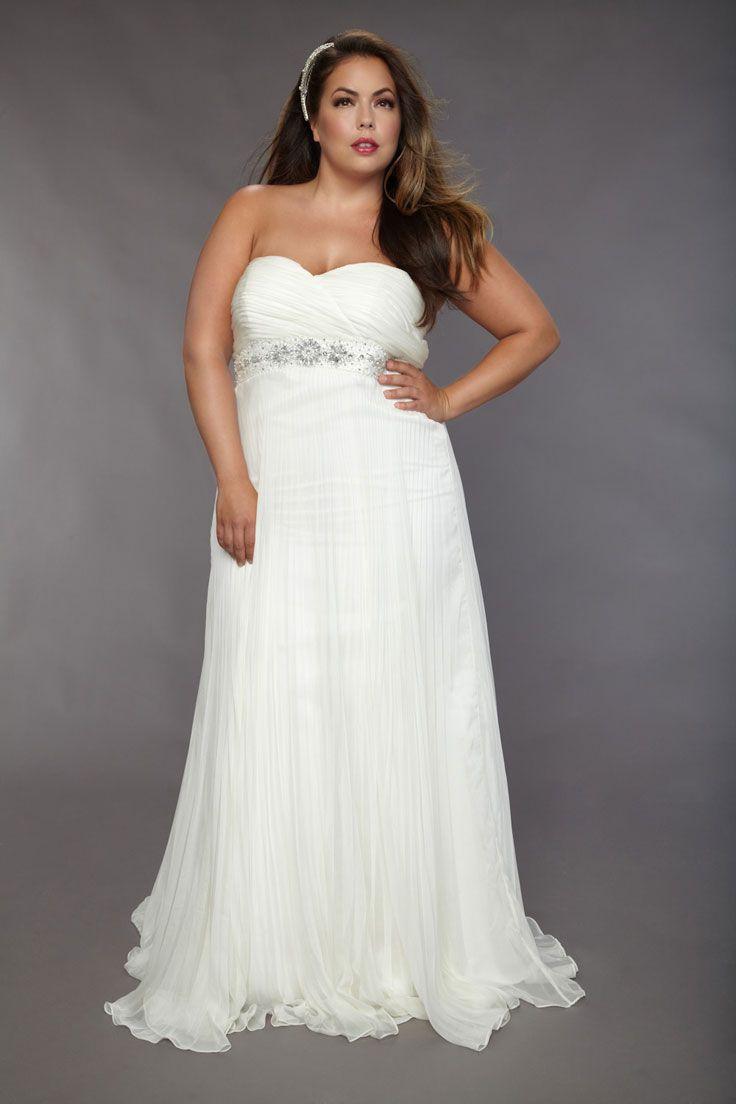 Plus size casual wedding dress  plus size wedding dress  bridal gowns and headresses  Pinterest