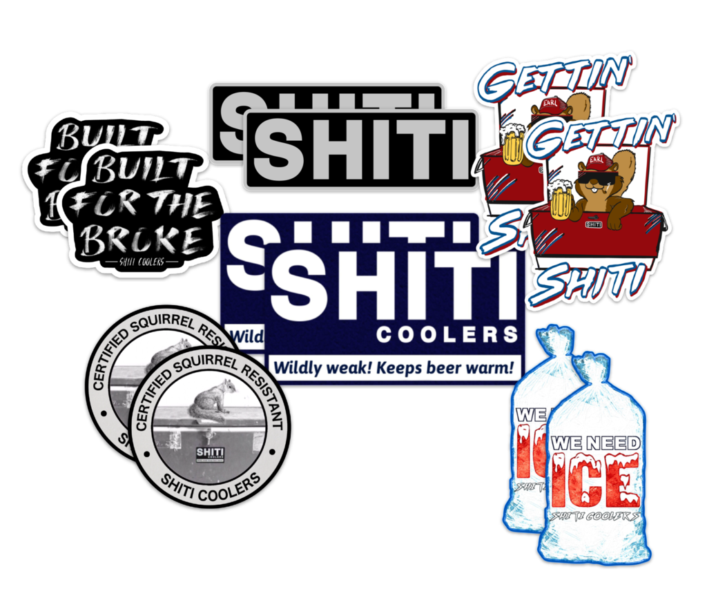 This Shiti Variety Pack Will Include 12 Stickers No Coolers Just Stickers Cool Things To Buy Cooler Retail Logos Shiti coolers competes with other top collectible stores such as disney, the met store and blizzard gear. stickers no coolers