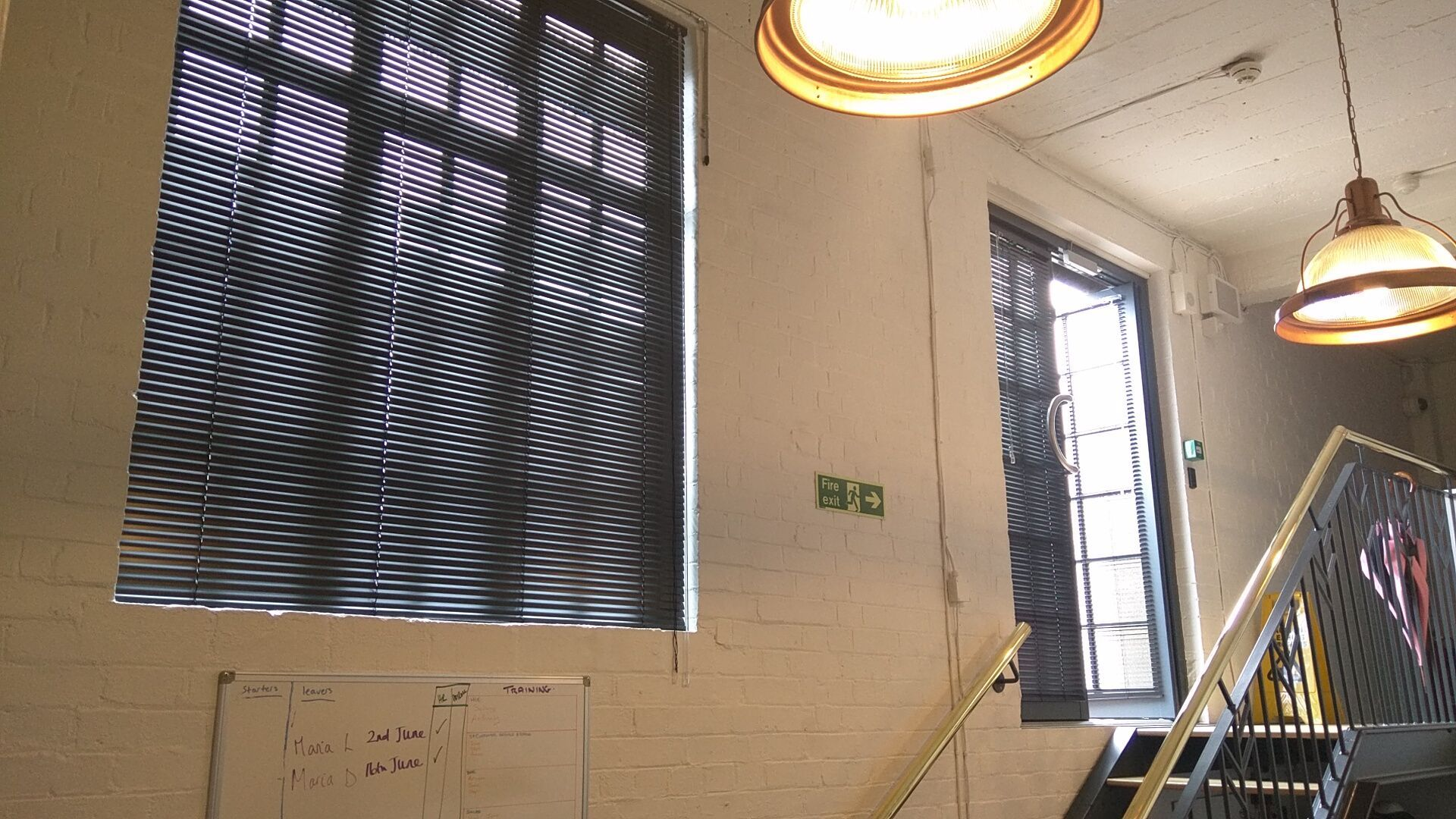 Metal venetian blinds we fitted for the prince edward theatre in