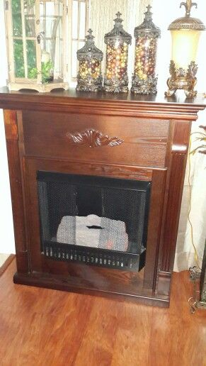 STERN O CANDLE OR FIT YOUR OWN VENT FREE FIREPLACE WITH MATCHING SIDE SHE LOVES ALL 3 PIECE UNIT ..ONLY 275.00. PAID 600.00 NOV. LAST YEAR..