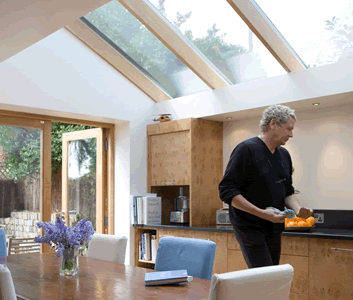 Vaulted ceiling in a kitchen extension | Home | Pinterest ...