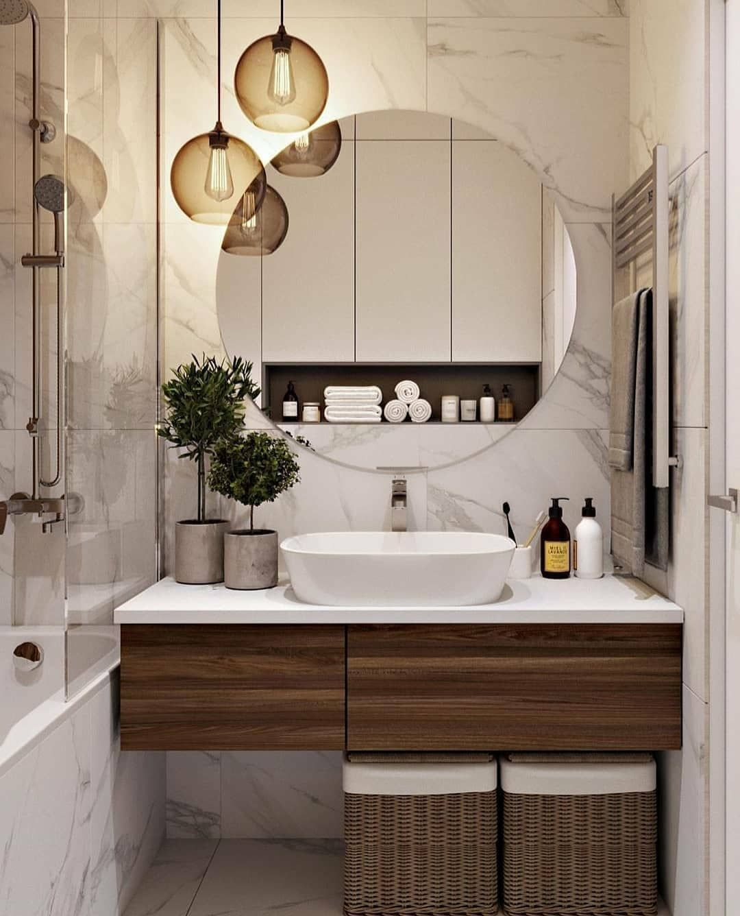 "B E A U T I F U L R O O M S Z on Instagram: ""Inspiration!!! ������� Follow @beautifulroomsz for more ! � @homeasy.bathroom . . . . . . #lovefordesigns #homedesign #interiordecor…"""