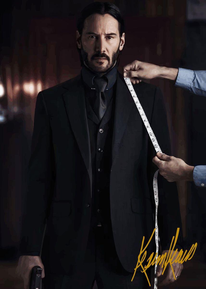 Keanu Reeves Poster By Painting Art Displate In 2021 Keanu Reeves Keanu Reeves John Wick John Wick Movie