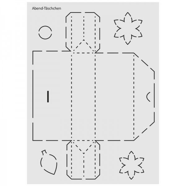 design schablone nr 4 abend t schchen din a4 geschenk verpacken pinterest schablonen. Black Bedroom Furniture Sets. Home Design Ideas