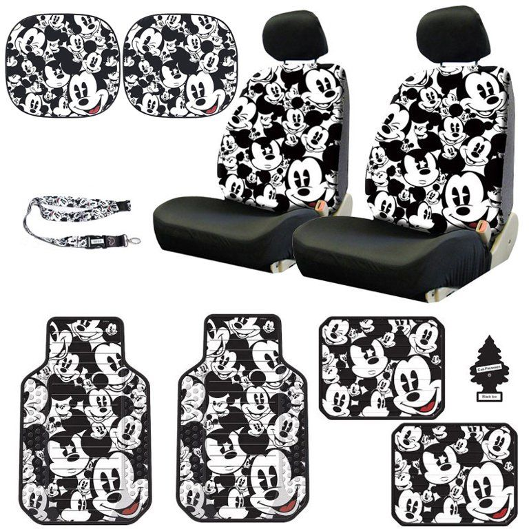New Design Disney Mickey Mouse Sideless Car Seat Covers