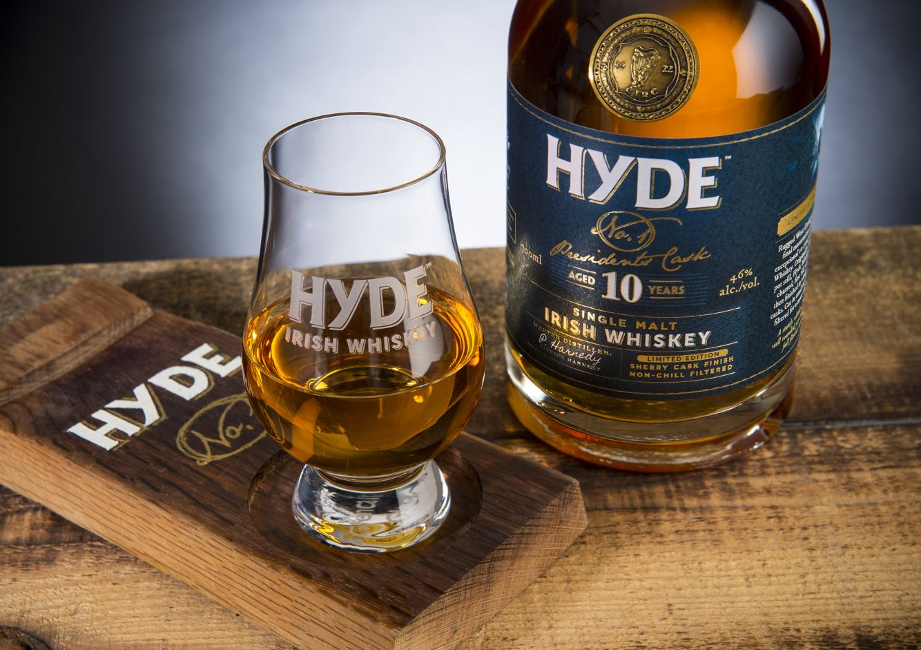 Hyde Irish whiskey single malt with a sherry finish