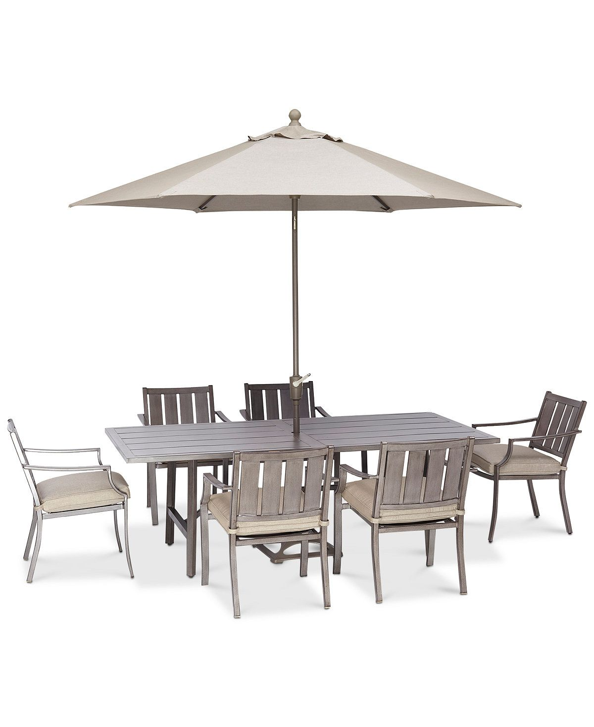 Wayland Outdoor Aluminum 7 Pc. Dining Set (84