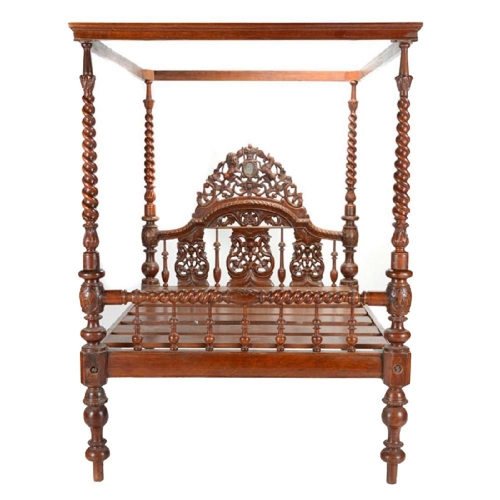 19th Century Anglo Indian Canopy Bed  sc 1 st  Pinterest & 19th Century Anglo Indian Canopy Bed | Canopy